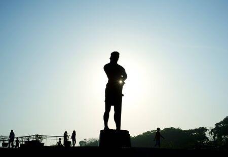 The Statue of the Sentinel of Freedom (statue of Lapu-lapu) in  Luneta park, Metro Manila, Philippines photo