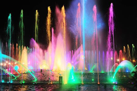 manila: Fountain show at a Rizal park, Malate, Metro Manila