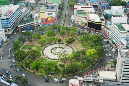 Cebu, Philippines - May 18, 2012:  Fuente Osmena Circle . Fuente Osmena circle was built on February 13, 1912. Now is the center for cultural, social, and political happenings of Cebu.