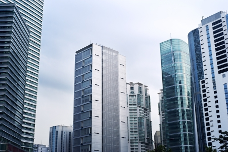 residential structures: Skyscrapers in Kuala Lumpur business center Stock Photo