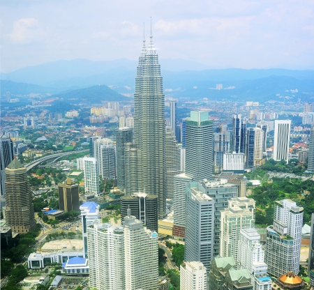 Panorama of Kuala Lumpur from KL Tower . Malaysia