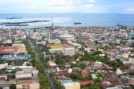 significant: Panorama of Cebu city. Cebu is the Philippines second most significant metropolitan centre and main domestic shipping port. Stock Photo