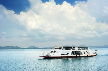 ferries: Ferry boat in Thailand Stock Photo