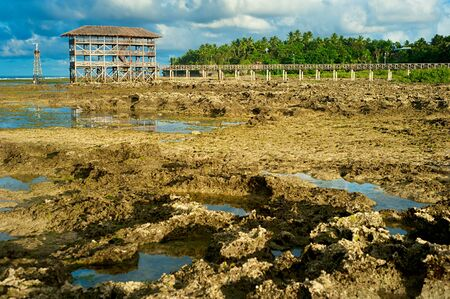 Low tide at Cloud 9, Philippines Stock Photo - 15317491