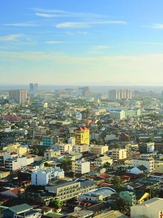 manila: Aerial view on  Metro Manila, Philippines Stock Photo