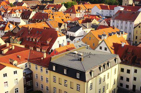regensburg: Aerial view on Regensburg, Germany  Regensburg city center