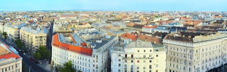 viewpoints: Panorama  of Budapest. View from St. Stephans Cathedral Stock Photo