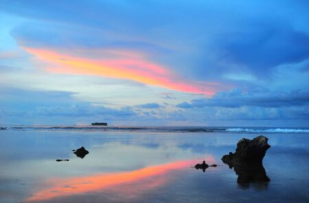 Beautiful sunset at Cloud 9, Siargao island , Philippines Stock Photo - 16506711