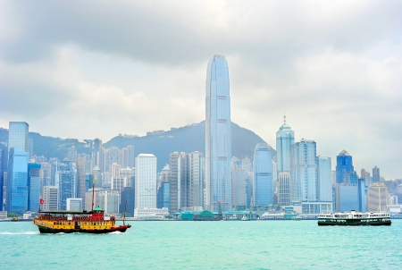 Ferry from Kowloon to Hong Kong island Stock Photo - 16507617