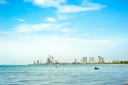 pattaya thailand: Skyline of Pattaya in the sunshine day, Thailand