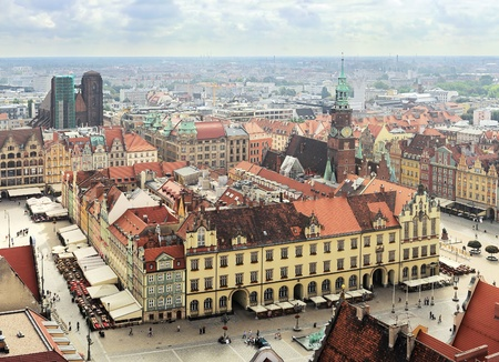 Market Square in Wroclaw, Poland Stock Photo - 16838279