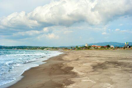 Philippines sandy beach and moody sky. Luzon island Stock Photo - 16939399