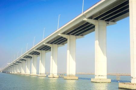 span: Sai Van bridge in Macau. This is the worlds largest double concrete bridge span