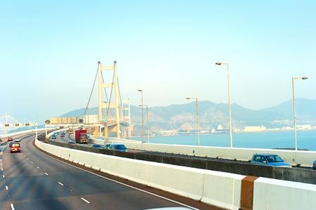 ma: Tsing Ma bridge in Hong Kong