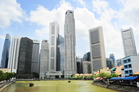 Singapore riverbank in the sunshine day Stock Photo - 18807605