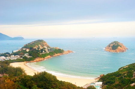 shek: Shek O beach in Hong Kong S.A.R. Stock Photo