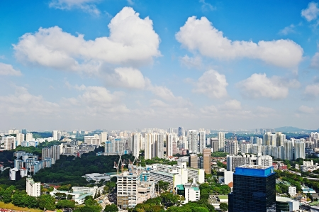 Singapore districts in the sunshine morning photo