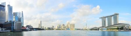 Singapore banchina con il Marina Bay Sands a destra