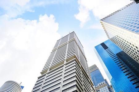 Distretto finanziario di Singapore nel corso della giornata sole Archivio Fotografico