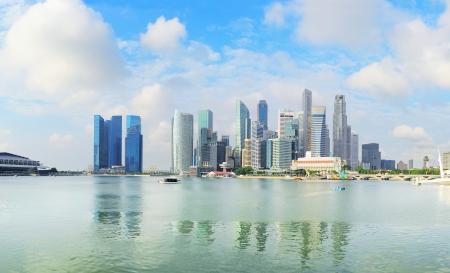 Skyline del centro di Singapore in mattinata Archivio Fotografico