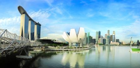 Skyline di Singapore. Vista dal Ponte Helix Editoriali