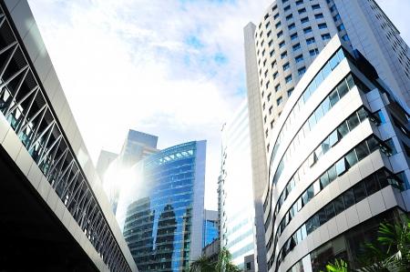 クアラルンプールの金融の中心地の高層ビル。マレーシア 写真素材