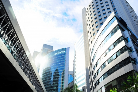 tall building: Skyscrapers in Kuala Lumpur financial center. Malaysia Stock Photo