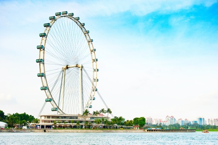the largest: Singapore Flyer - the Largest Ferris Wheel in the World.