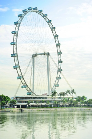observation wheel: Singapore Flyer - the Largest Ferris Wheel in the World  Editorial