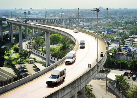 Modern highway in Bangkok, Thailand. Aerial view photo