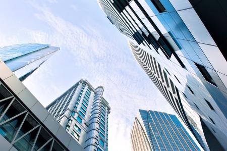 Skyscrapers in Kuala Lumpur financial center  Malaysia