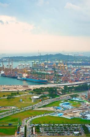 Singapur Handelshafen Es