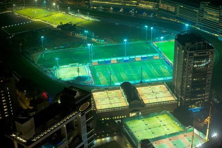 Aerial view of sport stadiums in Hong Kong photo
