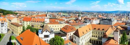 Panoramic view of Brno city, Czech Republic