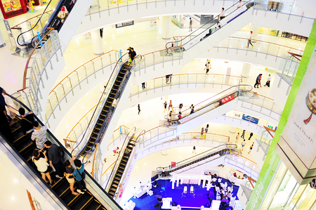 Bangkok, Thailand - March 04, 2013  Central World shopping plaza in Bangkok  It