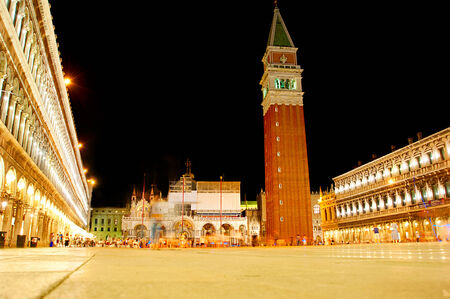 marco: San Marco square in the evening, Venice Italy