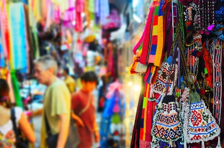 Chatuchak weekend market  in Bangkok, Thailand.  It is the largest market in Thailand.