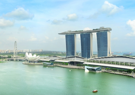 SINGAPORE - MAY 03, 2013: Marina Bay Sands Resort  in Singapore. It is billed as the worlds most expensive standalone casino property at S$8 billion