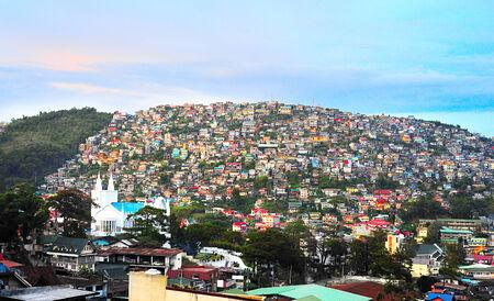 Baguio city at dusk, Luzon Island, Philippines  Stock fotó