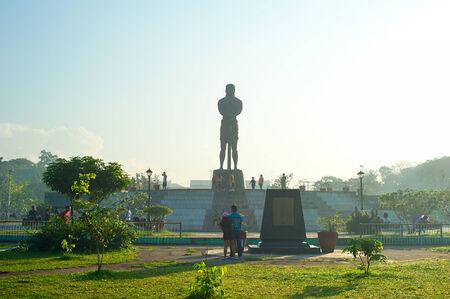 MANILA, PHILIPPINES - APRIL 01, 2012: The Statue of the Sentinel of Freedom (statue of Lapu-lapu) in Luneta park, Metro Manila, Philippines