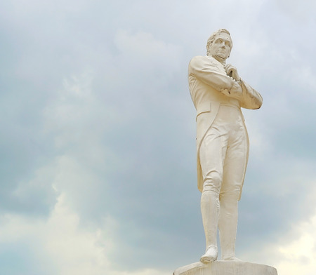 Statue of Sir Tomas Stamford Raffles - best known for his founding of the city of Singapore. He is often described as the Father of Singapore