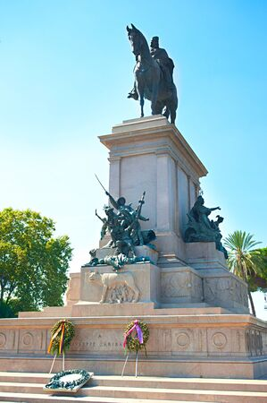 garibaldi: Statue of Giuseppe Garibaldi, Gianicolo, Rome, Italy