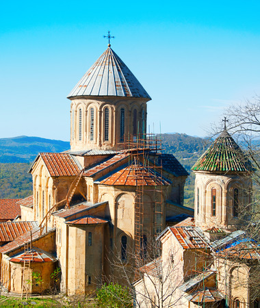 gelati: Gelati Monastery , Georgia. It contains the Church of the Virgin founded by the King of Georgia David the Builder in 1106, and the 13th-century churches of St George and St Nicholas.