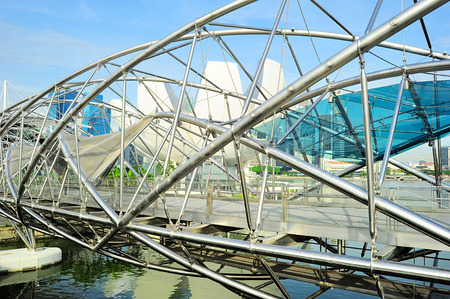 tonnes: The Helix Bridge in Singapore. Is a bridge in the Marina Bay. The Helix is fabricated from 650 tonnes of Duplex Stainless Steel and 1000 tonnes of carbon steel.