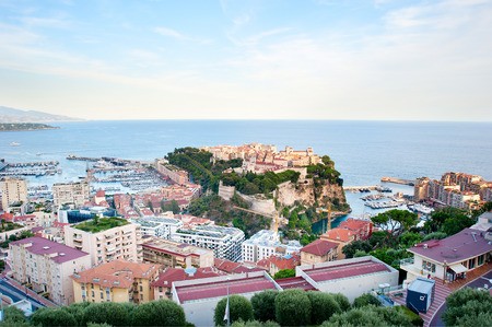 carlo: Skyline of Monaco ( Monte Carlo) with old town in the center