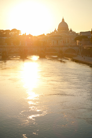 foursquare: View of Tiber and St. Peters cathedral at sunset in Rome