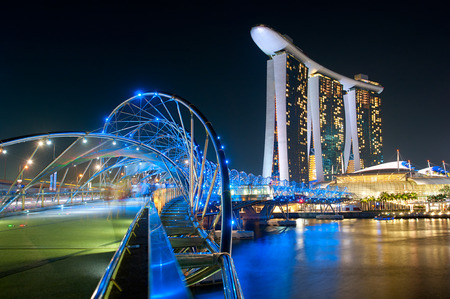 tonnes: The Helix Bridge and Marina Bay Sands in Singapore. The Helix is fabricated from 650 tonnes of Duplex Stainless Steel and 1000 tonnes of carbon steel.