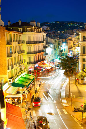 City center of  Cannes, France. It is a busy tourist destination and host of the annual Cannes Film Festival