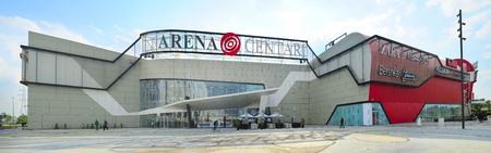 entertainment center: ZAGREB, CROATIA - OCTOBER 02, 2013: Arena Complex (Arena Center) is the largest shopping-entertainment centers in Zagreb.