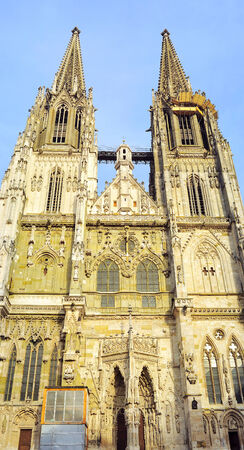 regensburg: The Regensburg Cathedral is the most important church and landmark of the city of Regensburg, Germany.